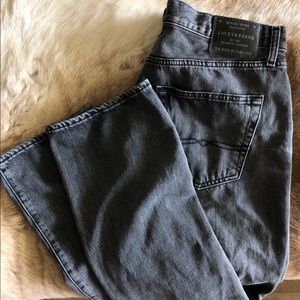 Black 410 athletic slim lucky jeans